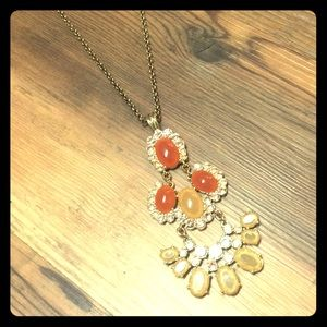 Francesca's rose gold and peach accented pendant